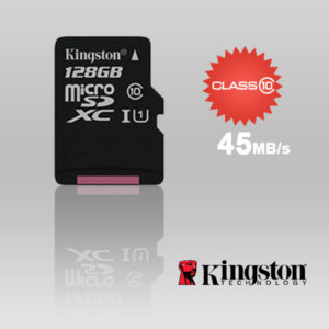 KINGSTON SDC10G2/128GBFR 128GB microSDXC Class 10 UHS-I upto 45MB/s with SD adaptor
