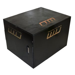 3 IN 1 Black Wood Plyo Games Plyometric Jump Box