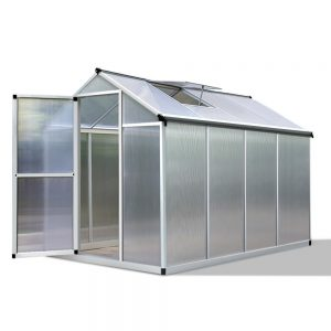 Green Fingers 2.4 x 1.9m Polycarbonate Aluminium Greenhouse
