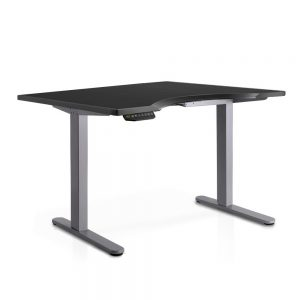 140cm Curved Adjustable Curved Desk - Black