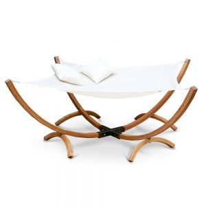 Gardeon Double Timber Hammock Bed Square