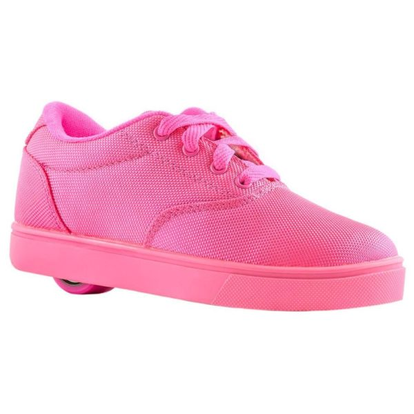 Heelys Launch Kids Skate Roller Shoes Girls Sneakers Toddler Pink Wheels Lace Up US 6