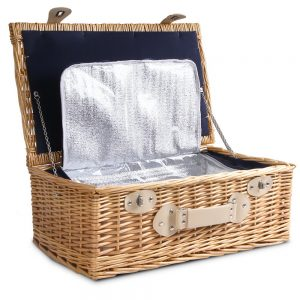 Alfresco 4 Person Cooler Wicker Picnic Basket - Brown