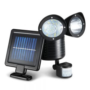 22 LED Solar Powered Dual Flood Lamp