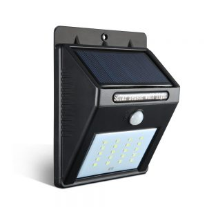Set of 2 20 LED Solar Powered Senor Light - Black