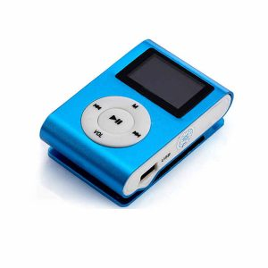 Mini Clip 8G MP3 Music Player With USB Cable & Earphone Blue