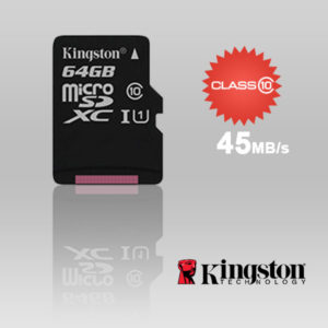 KINGSTON SDC10G2/64GBFR 64GB microSDXC Class 10 UHS-I upto 45MB/s with SD adaptor
