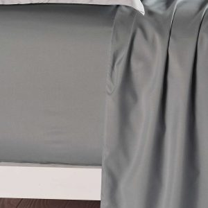 Single Size Slate Color Fitted Sheet