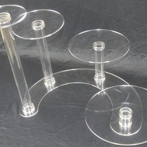 4 Tier Cascade Cake Stand 5mm Acrylic Wedding Display