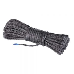 5mm x 15M Dyneema SK75 Winch Rope Black Synthetic strap Boat ATV 4WD Recovery